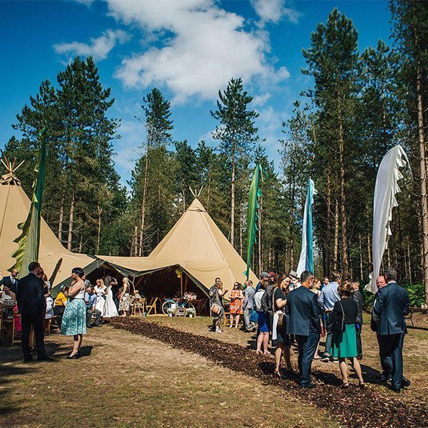 Delamere Forest Tipi Wedding Cheshire