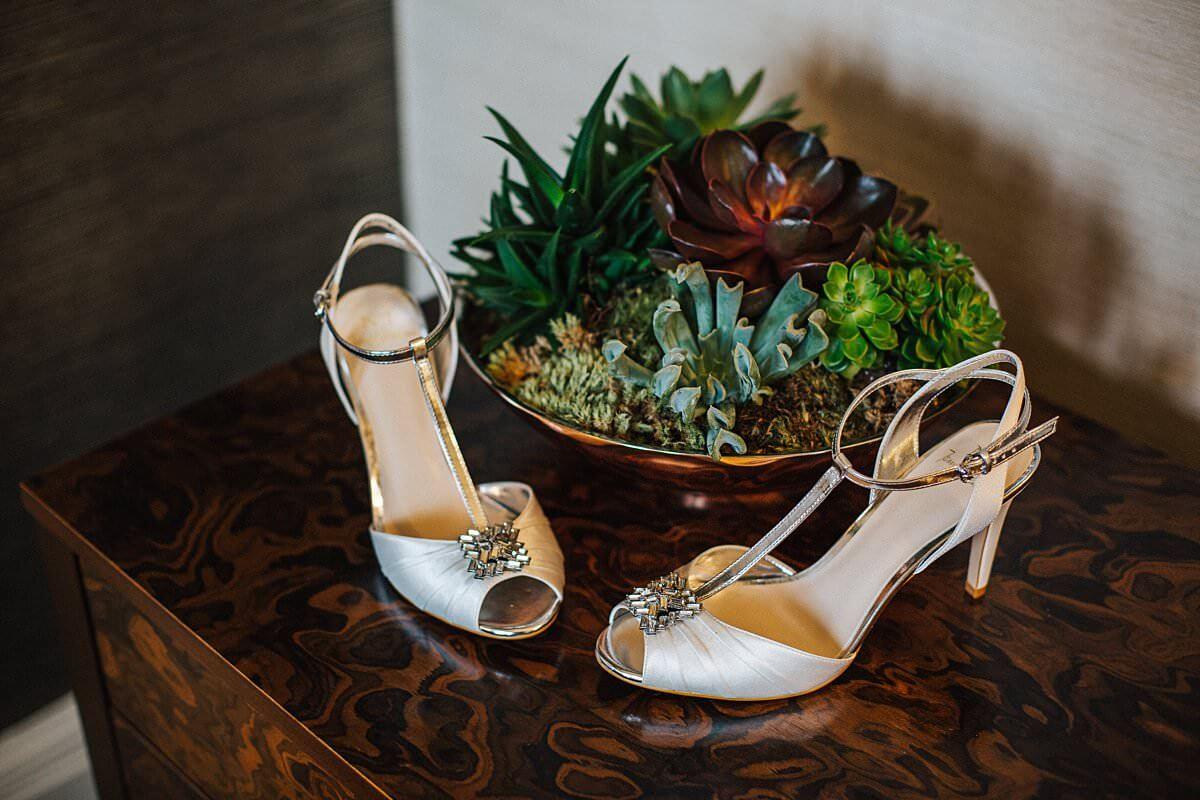 Jenny Packham wedding T bar heels