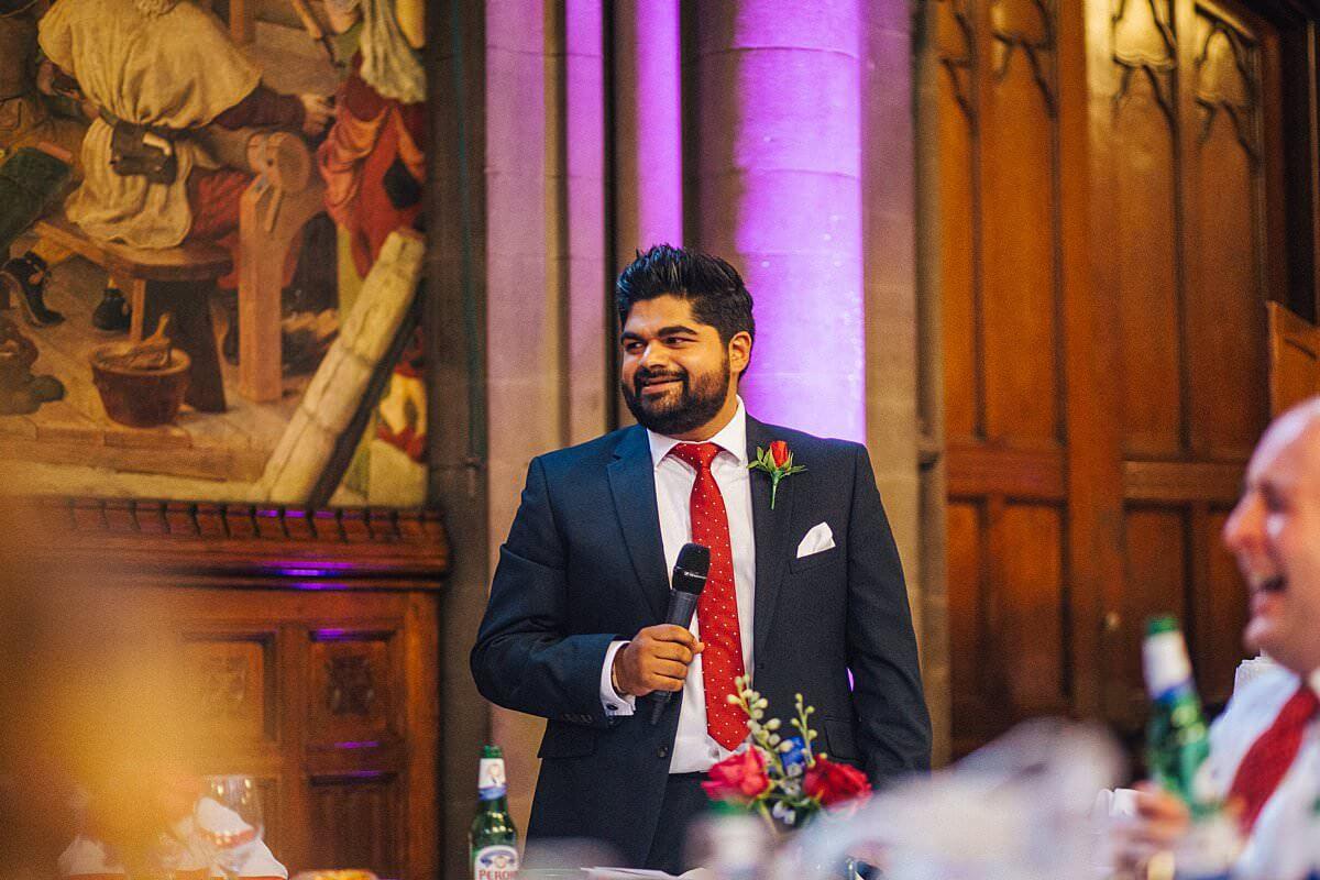 Best man's speech in Manchester
