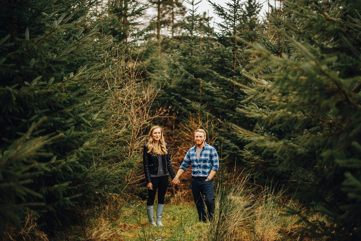 Relaxed forest engagement shoot