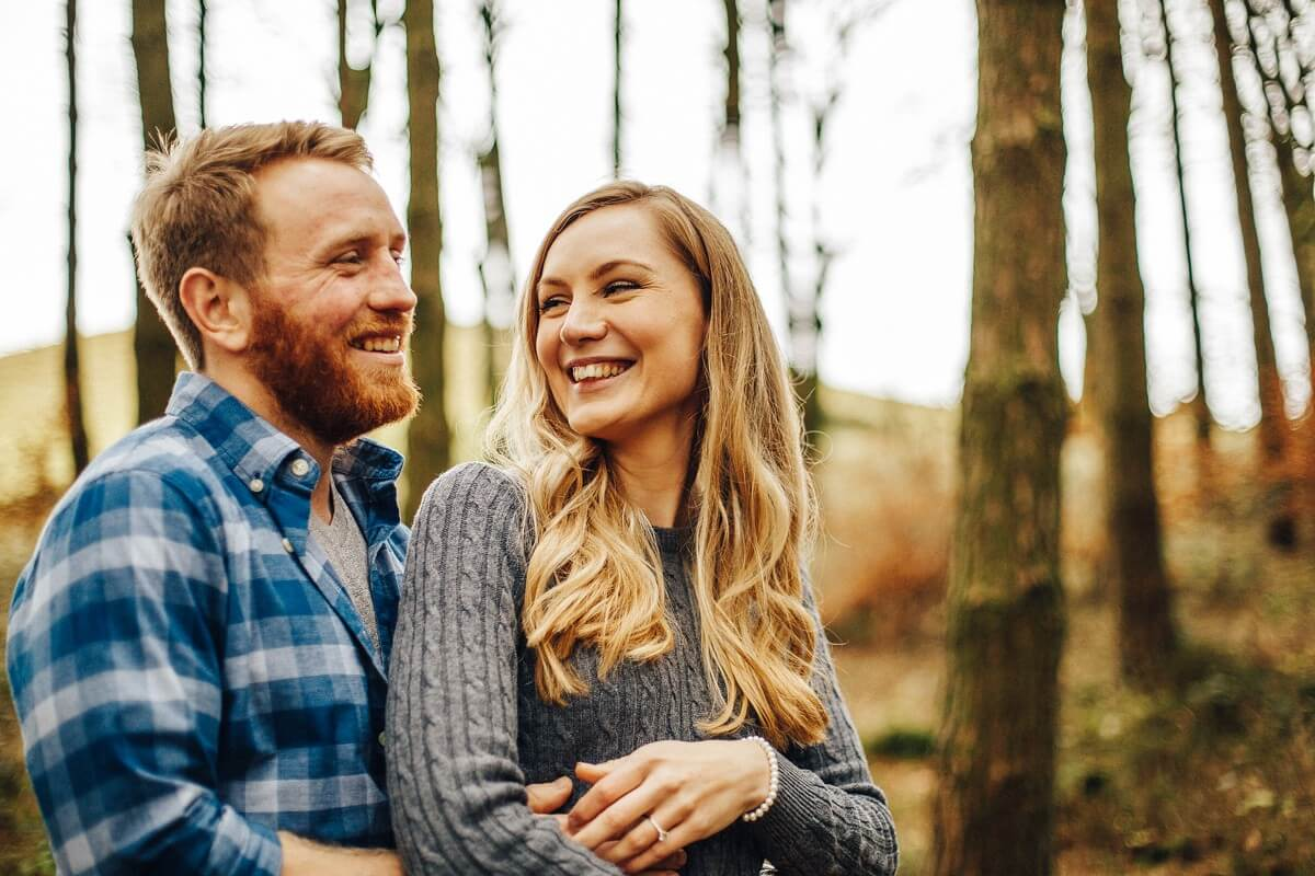 Fun and colourful engagement shoot
