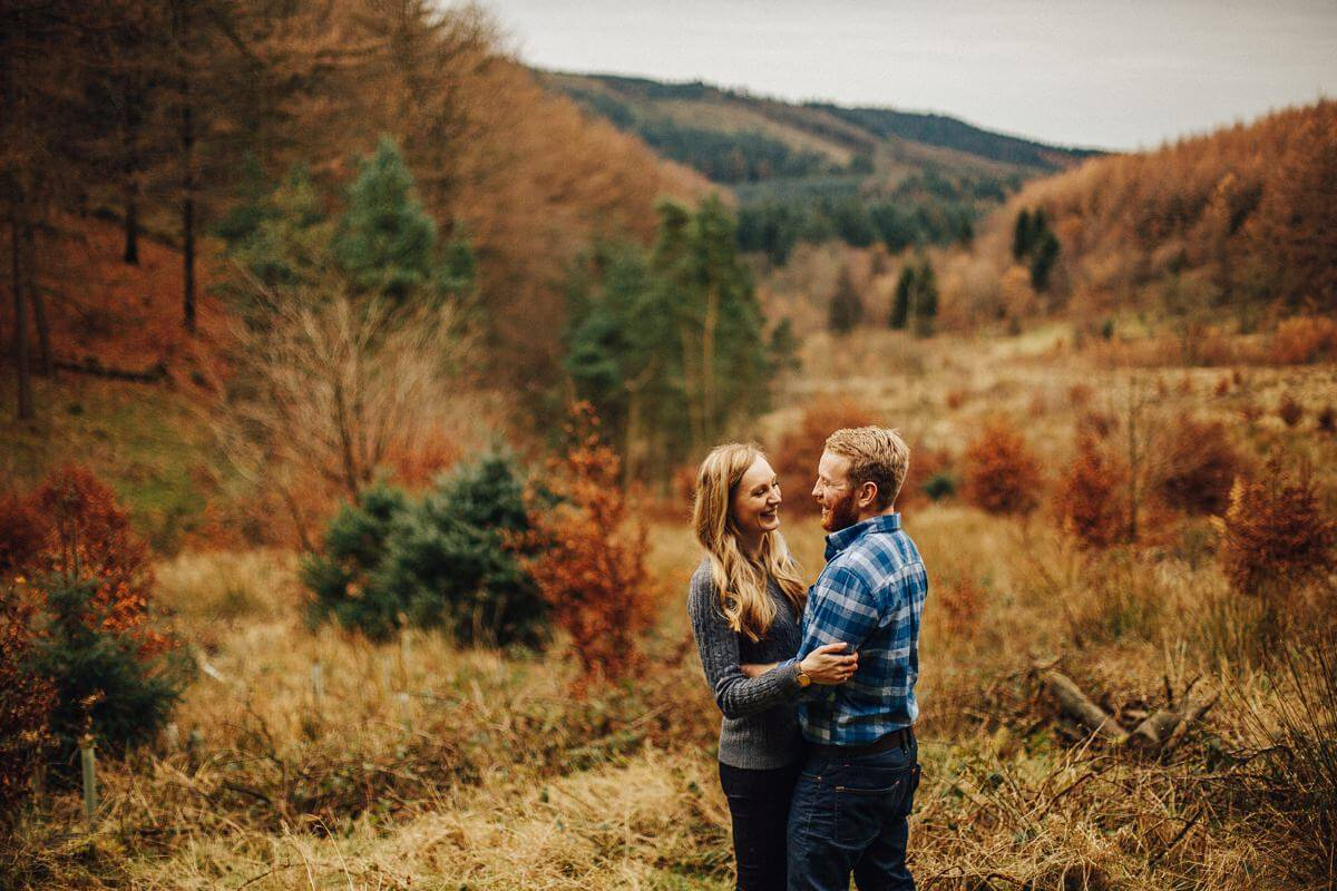 Romantic couples shoot in Macclesfield Forest