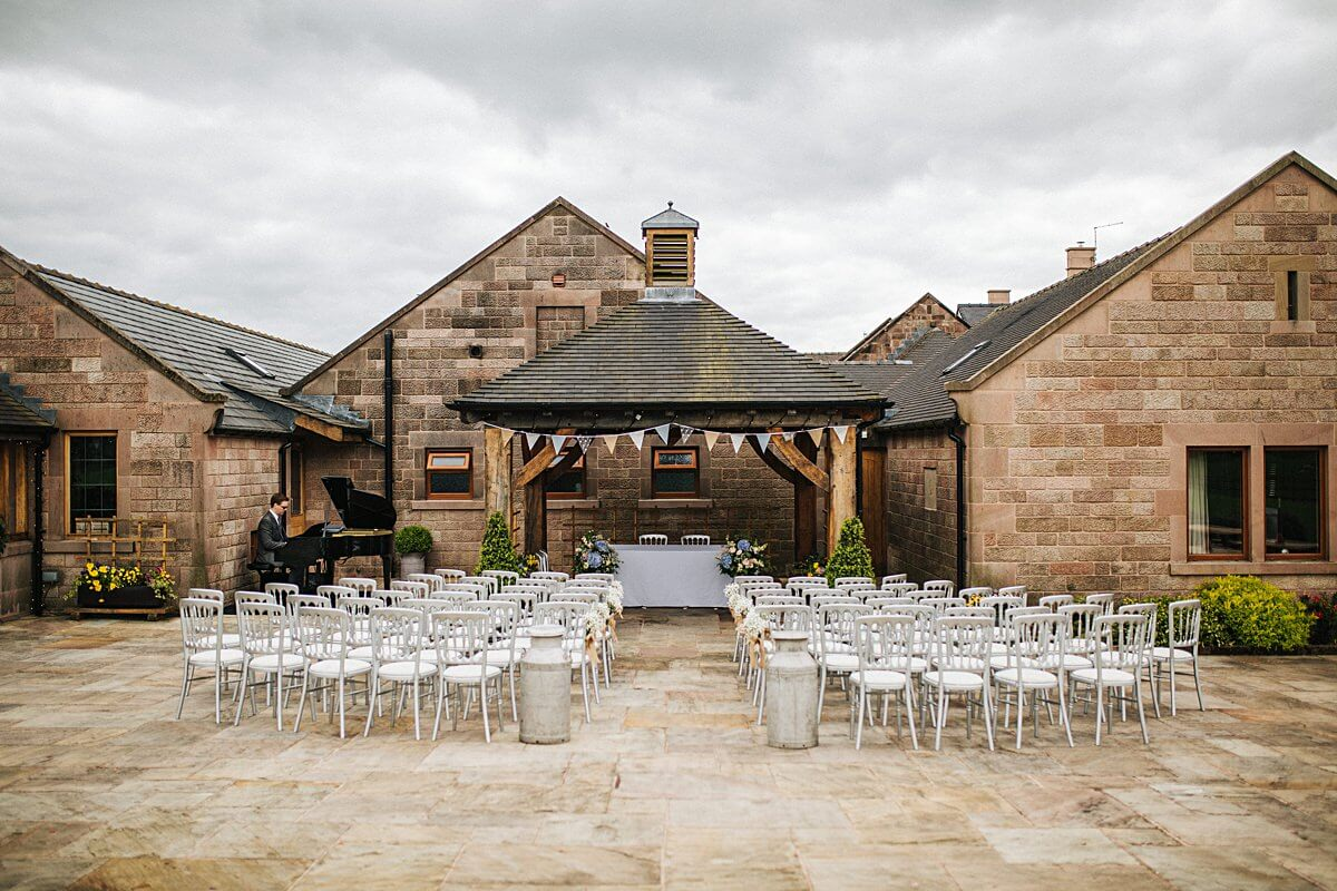 Outdoor wedding at Heaton House Farm