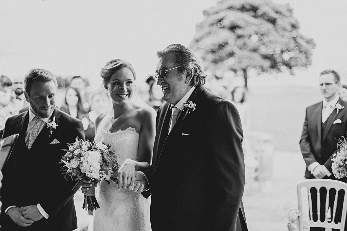 Proud Grandfather with the bride