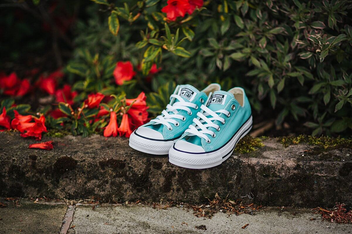 Mint converse wedding shoes