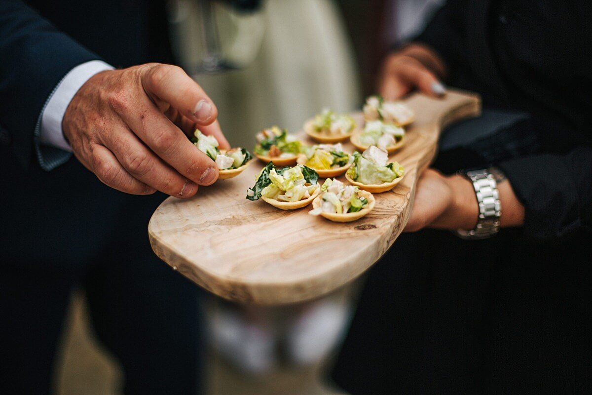 Canapes at Heaton House Farm