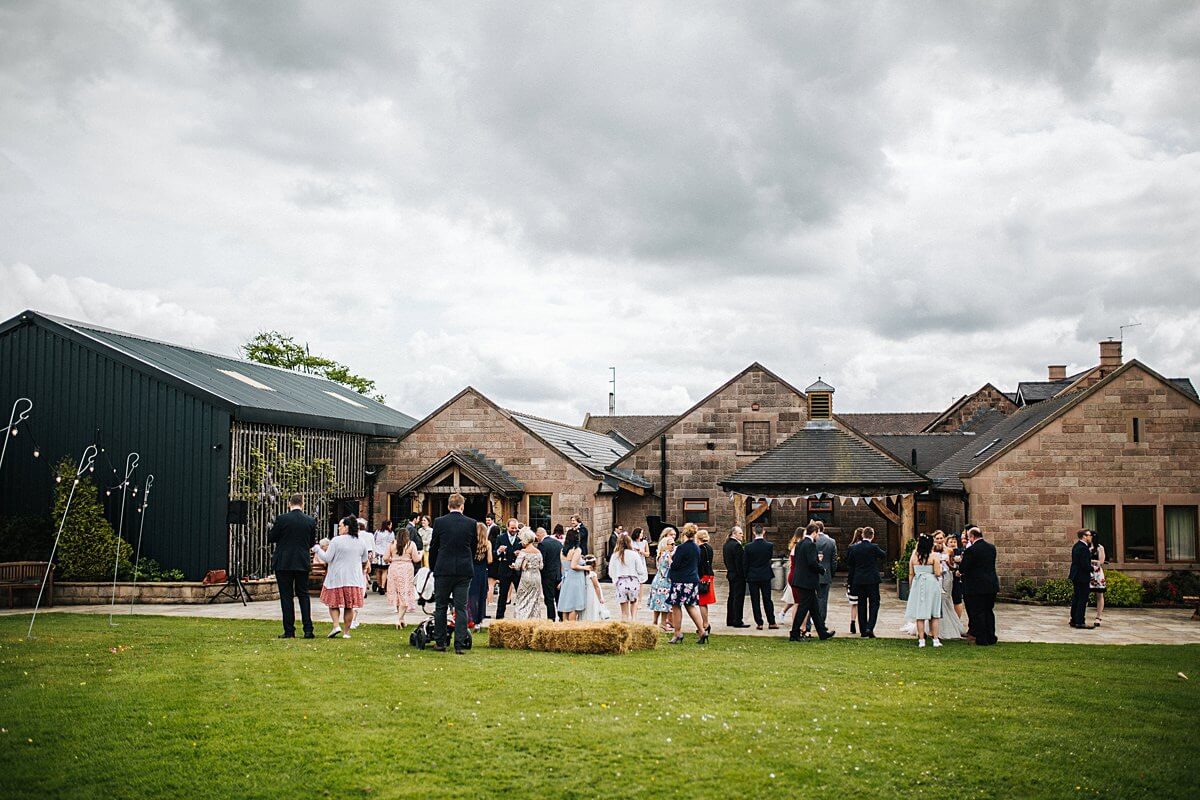 Heaton House Farm wedding reception