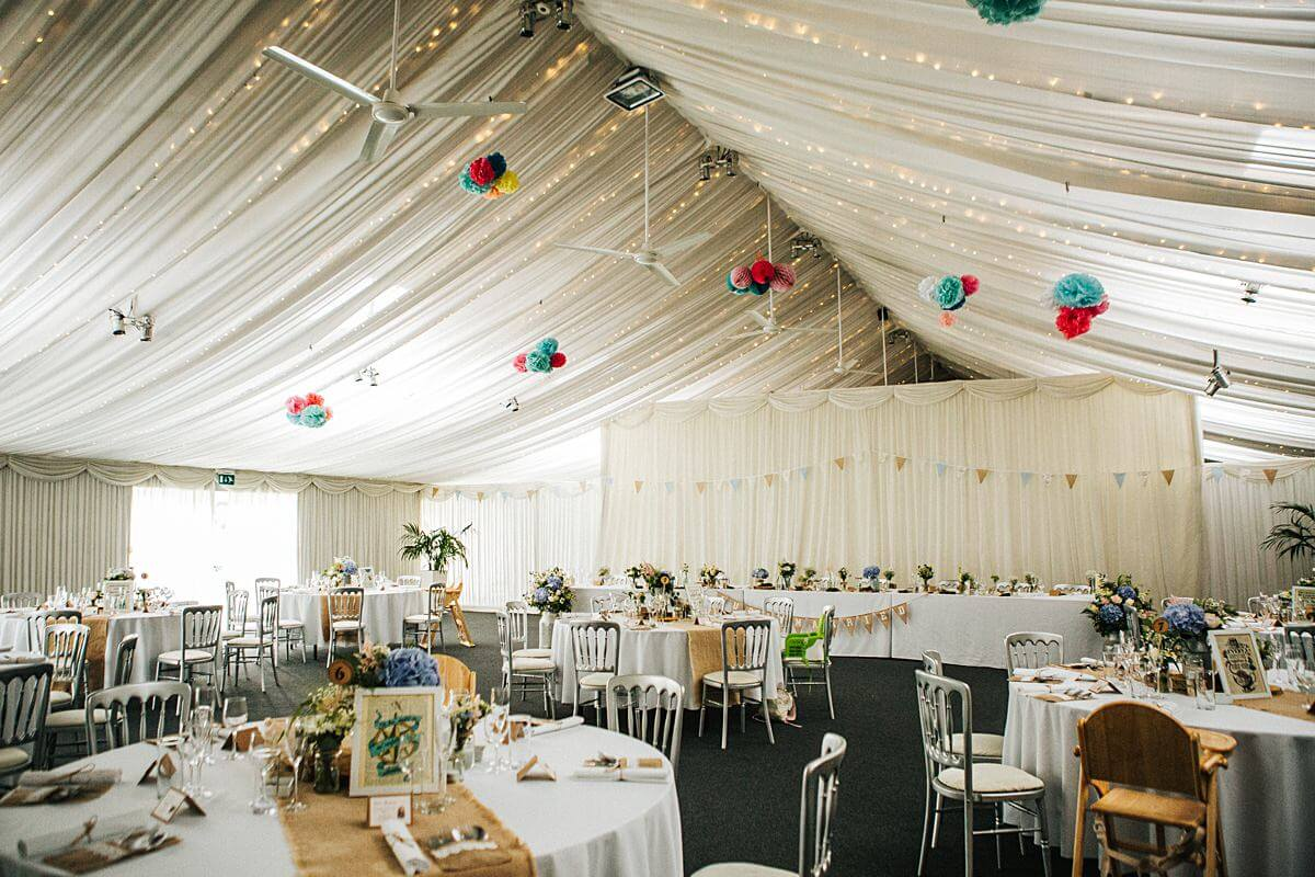 Heaton House Farm wedding decor