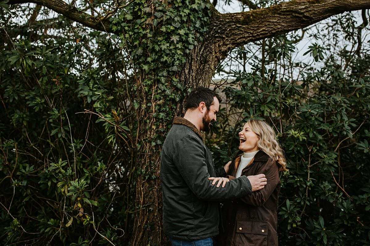 Laughs during the Engagement Shoot
