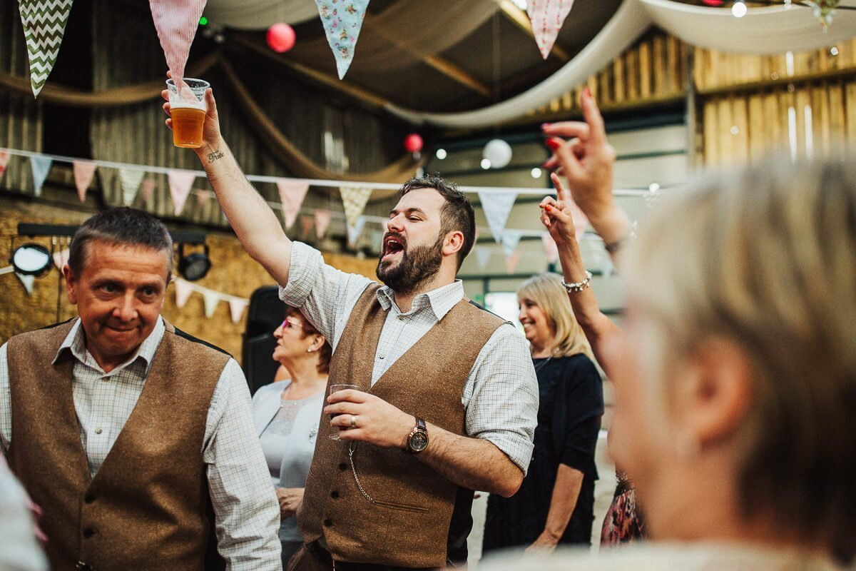 Partying at Thornsett fields farm barn