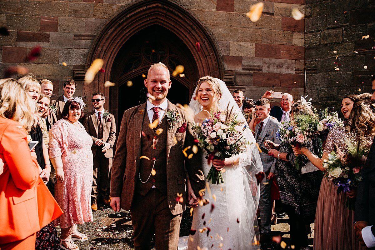 Colourful DIY Cheshire wedding