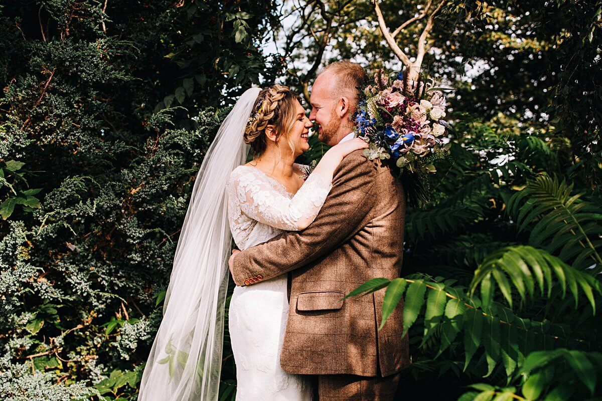 Natural portraits of the bride and groom