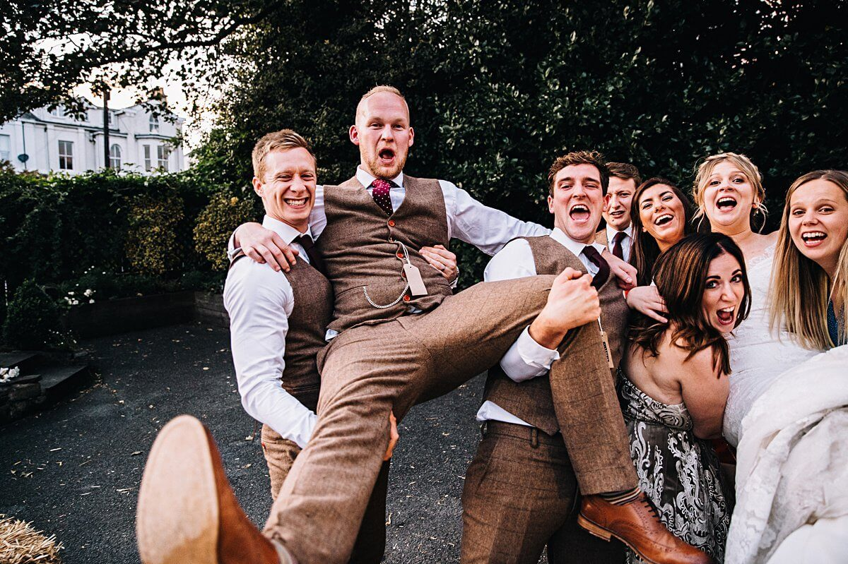 Relaxed fun wedding Cheshire