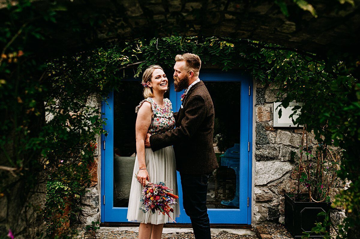 Colourful Lower Barns wedding
