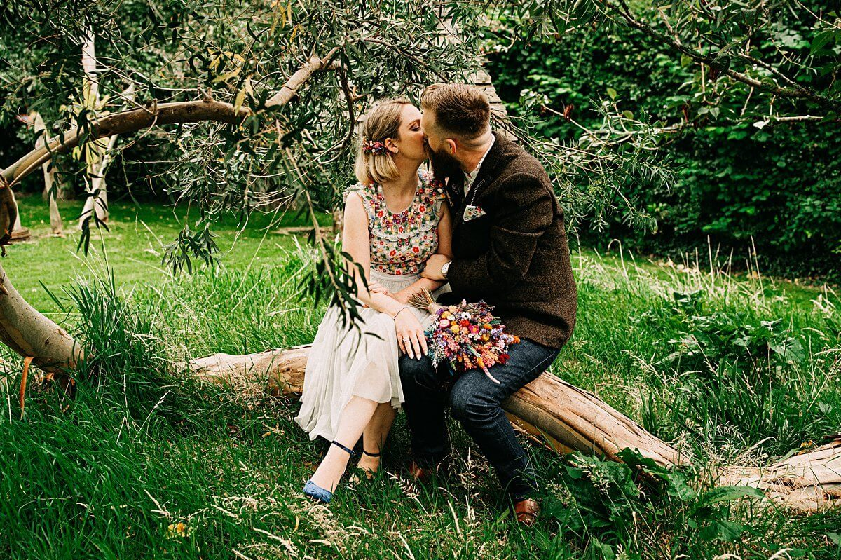 Natural wedding portraits Cornwall