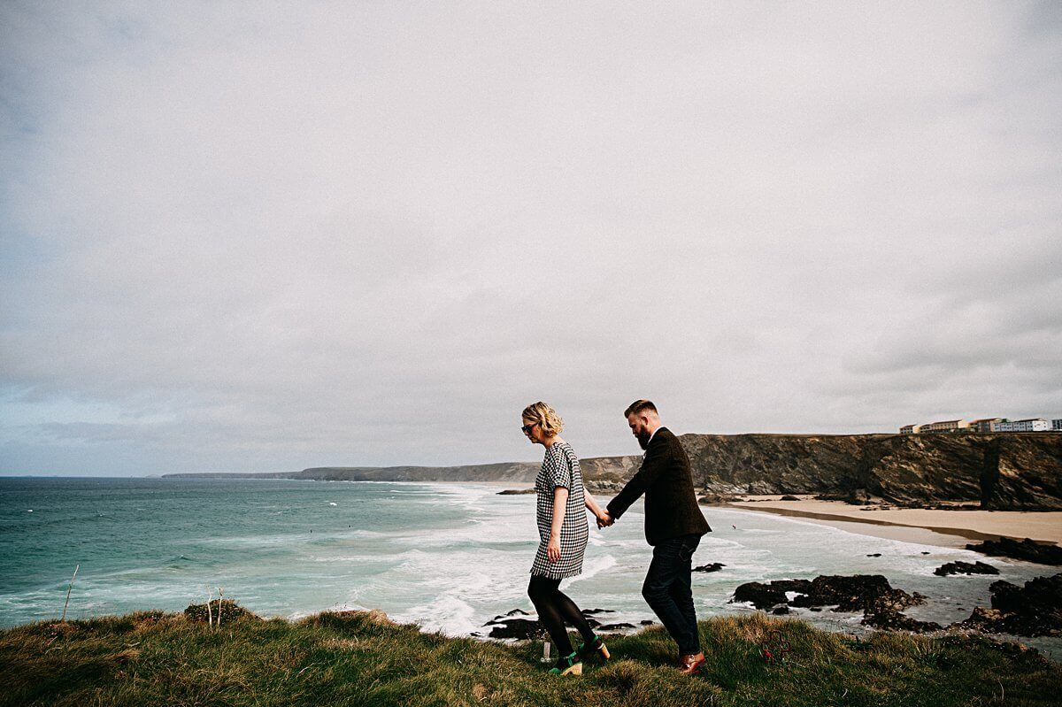 Natural elopement wedding portraits