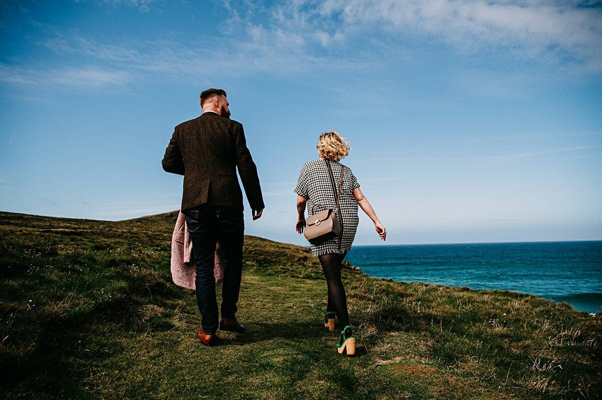 Couple portraits in Cornwall