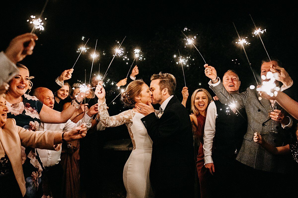 Epic sparklers wedding photo