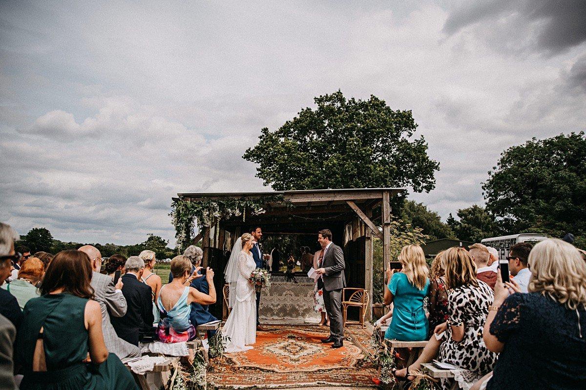 Wedding reading at humanist wedding