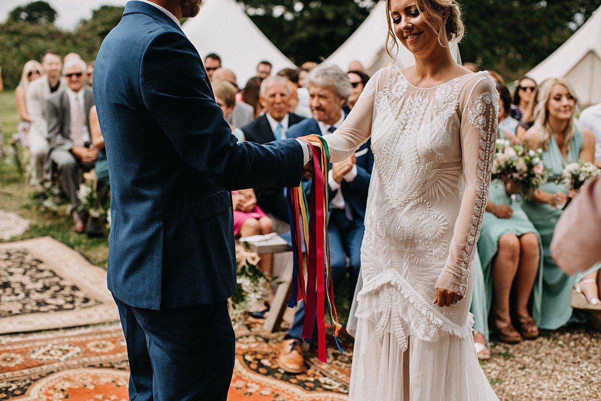 Hand-fasting wedding ceremony
