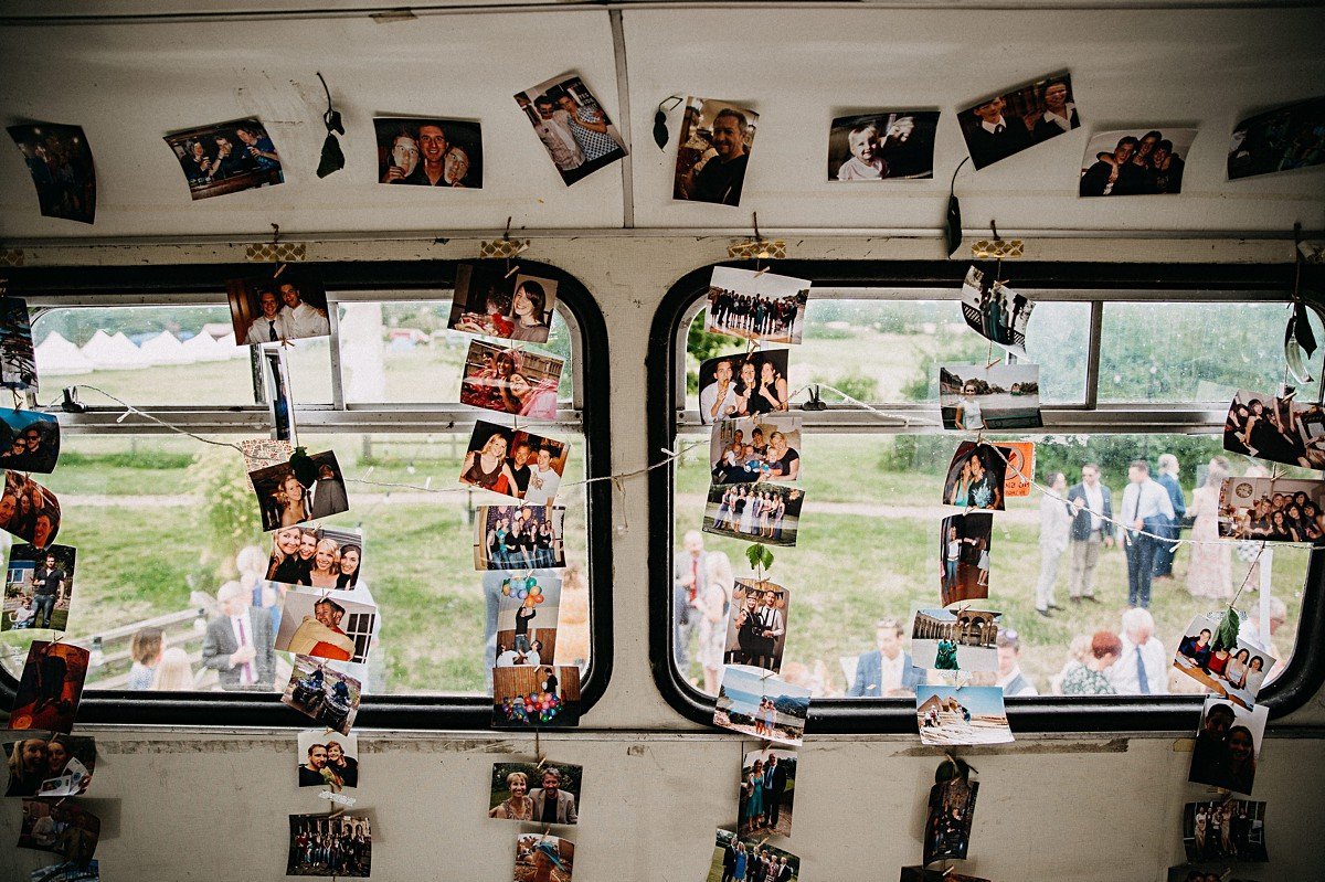 Memory wall of photos