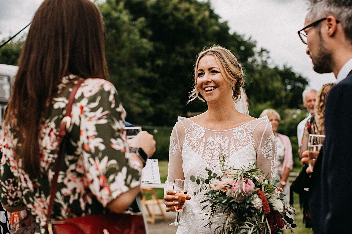 Relaxed outdoor wedding in Norfolk