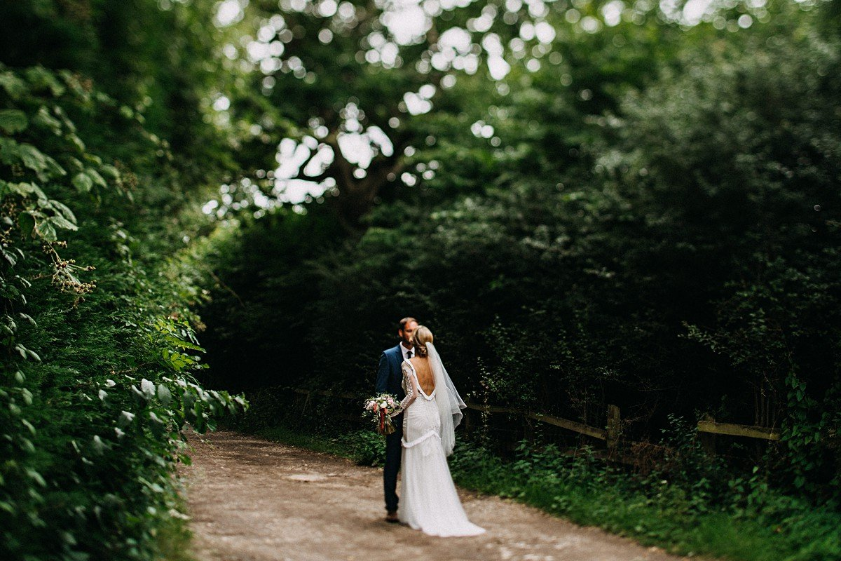 Outdoor wedding with Rue de seine dress