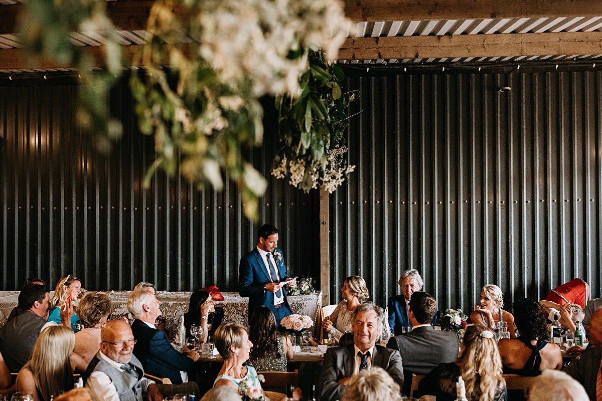 Rustic outdoor wedding barn