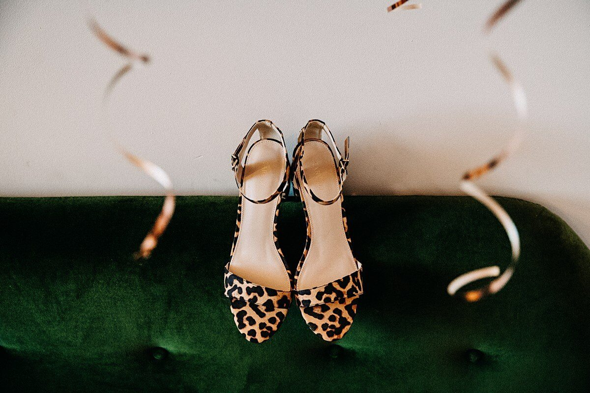 Leopard skin wedding shoes