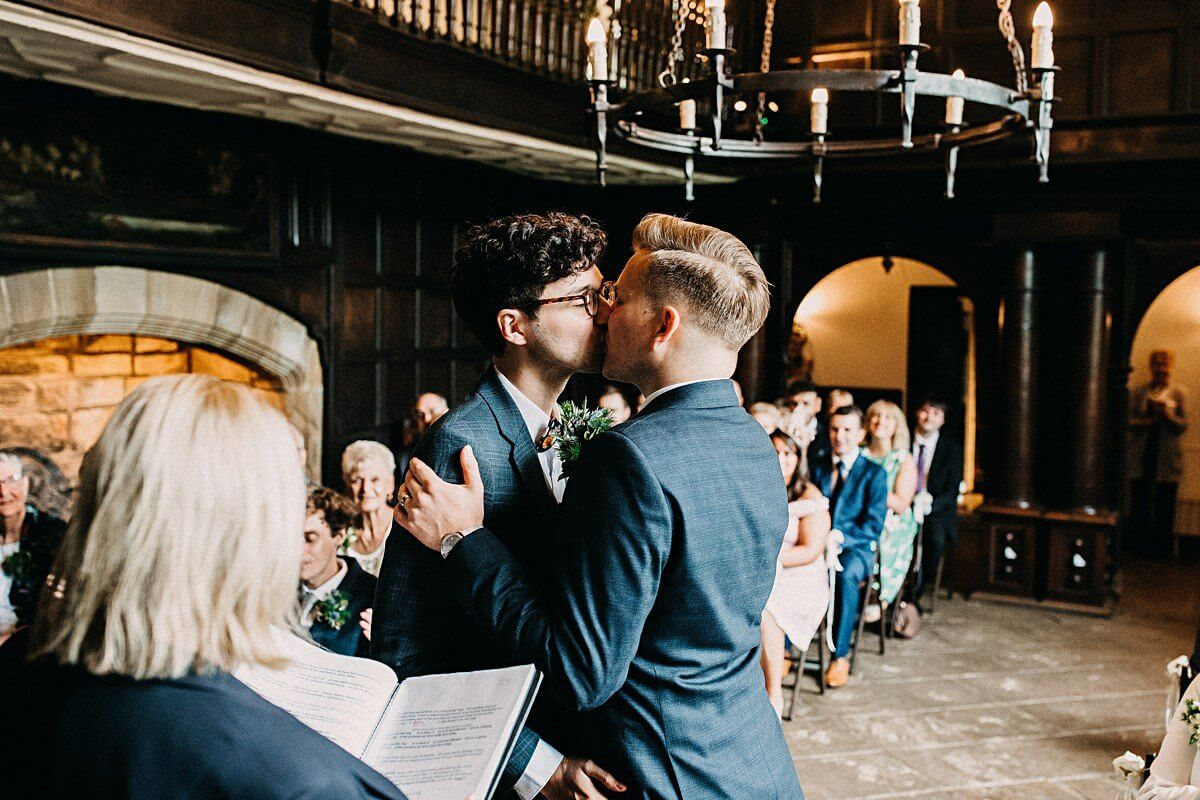 First kiss Oakwell Hall