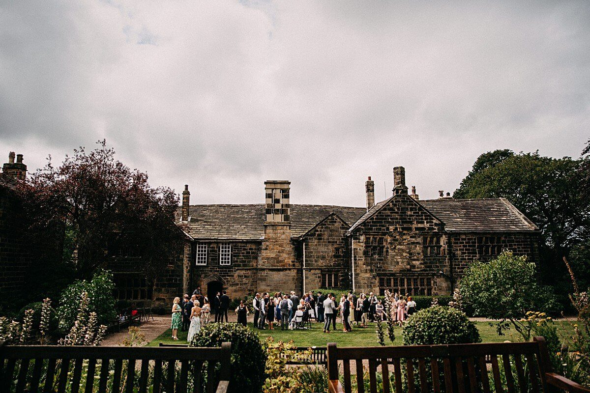 Colourful relaxed barn wedding