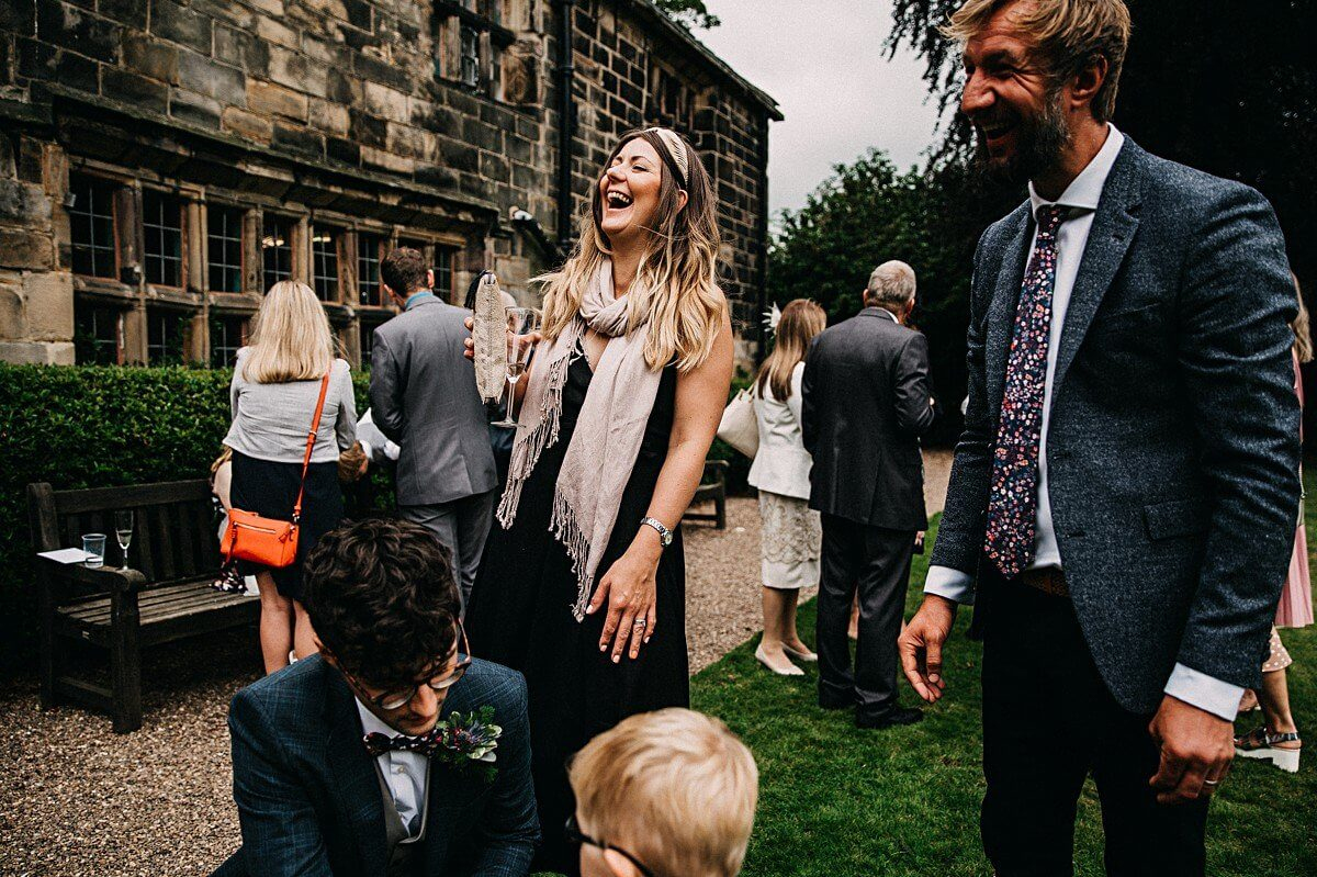Relaxed wedding Oakwell Hall