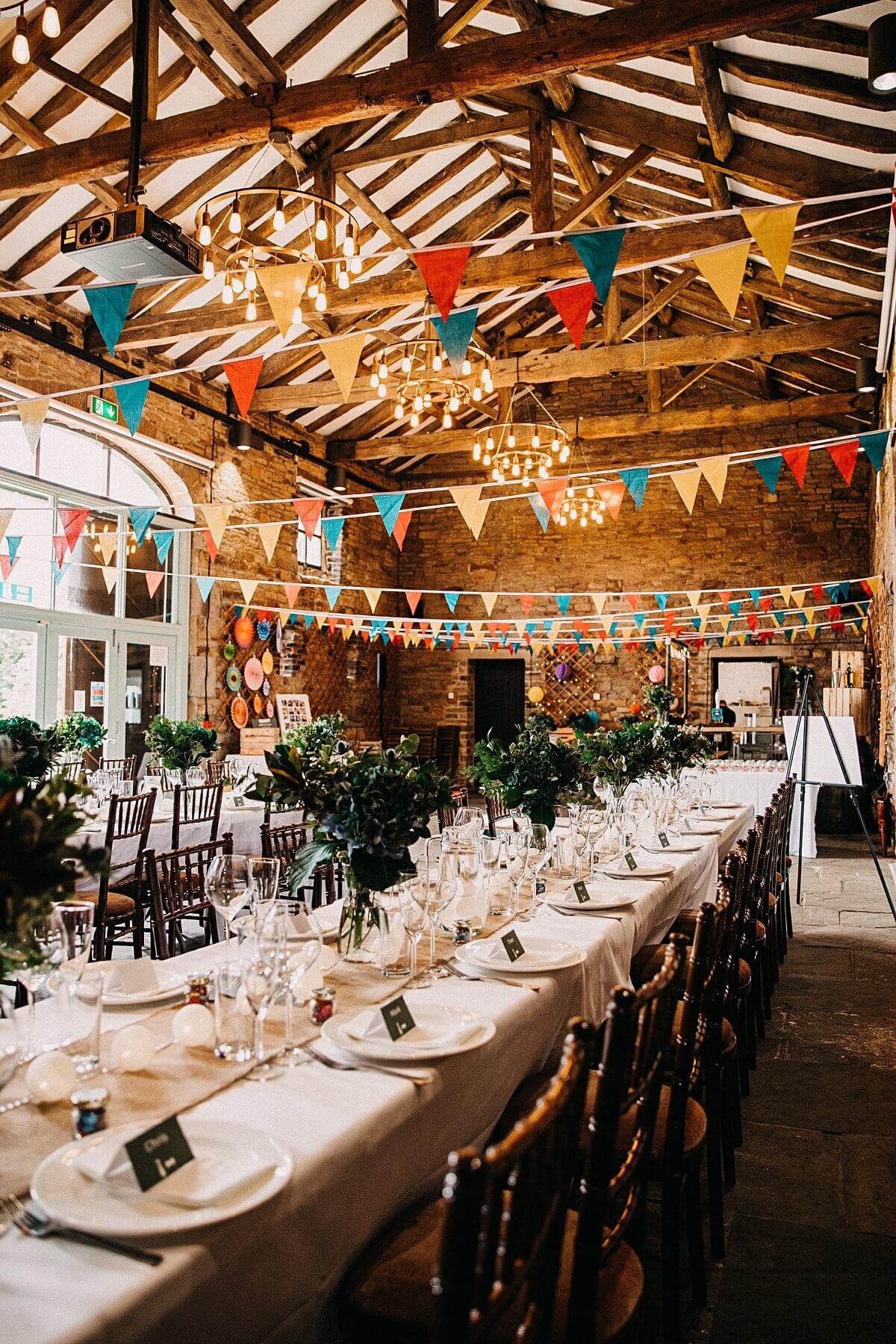 Barn wedding Yorkshire