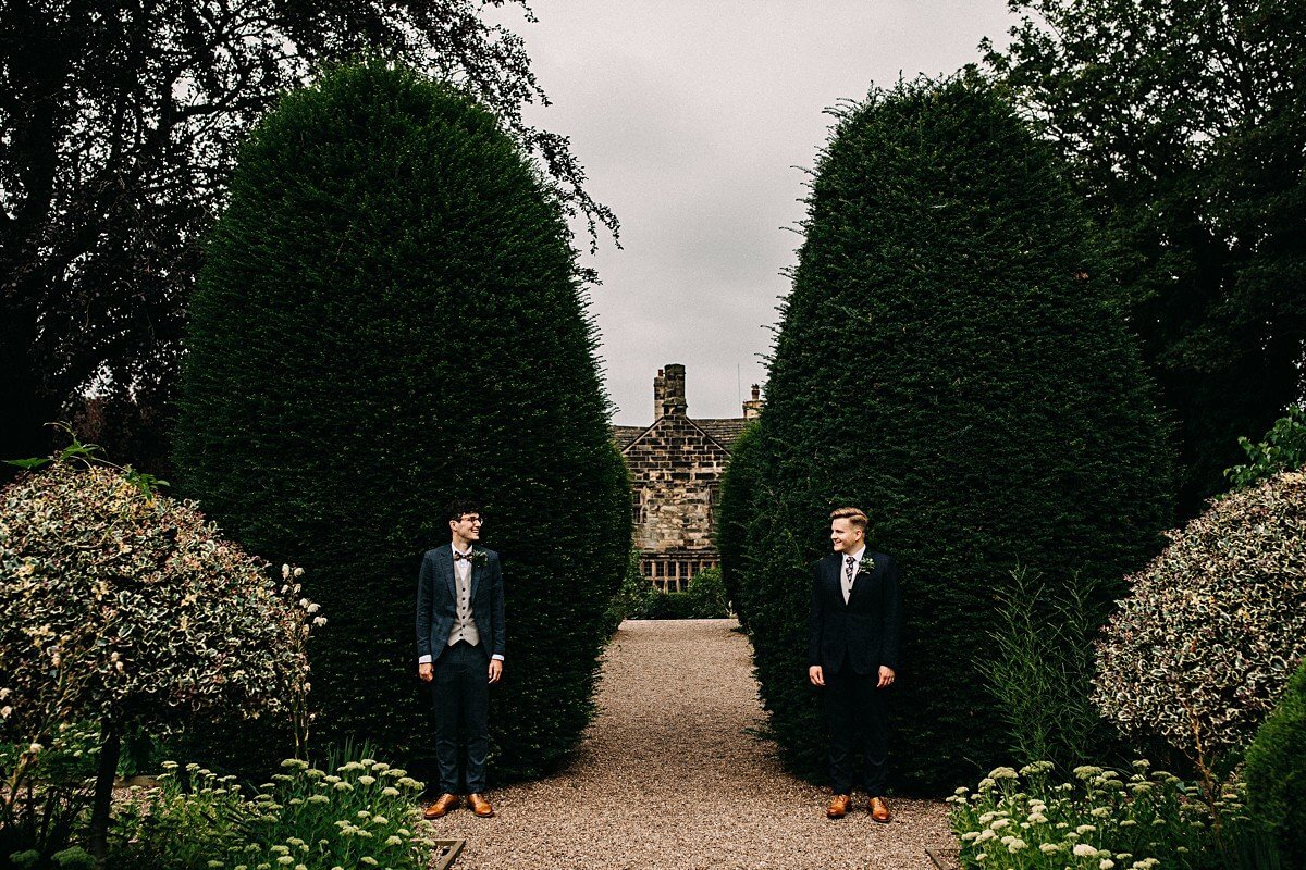 Alternative wedding portraits Yorkshire