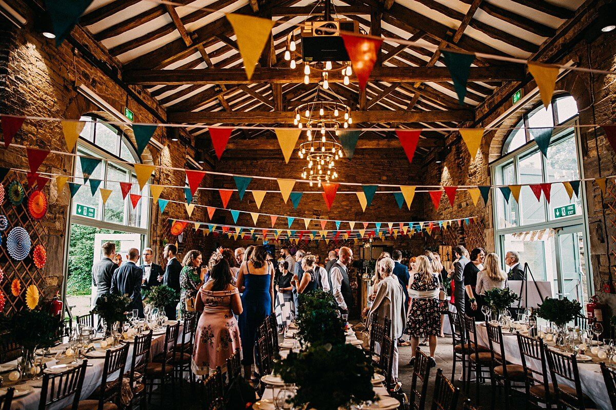 Colourful rustic barn wedding Yorkshire