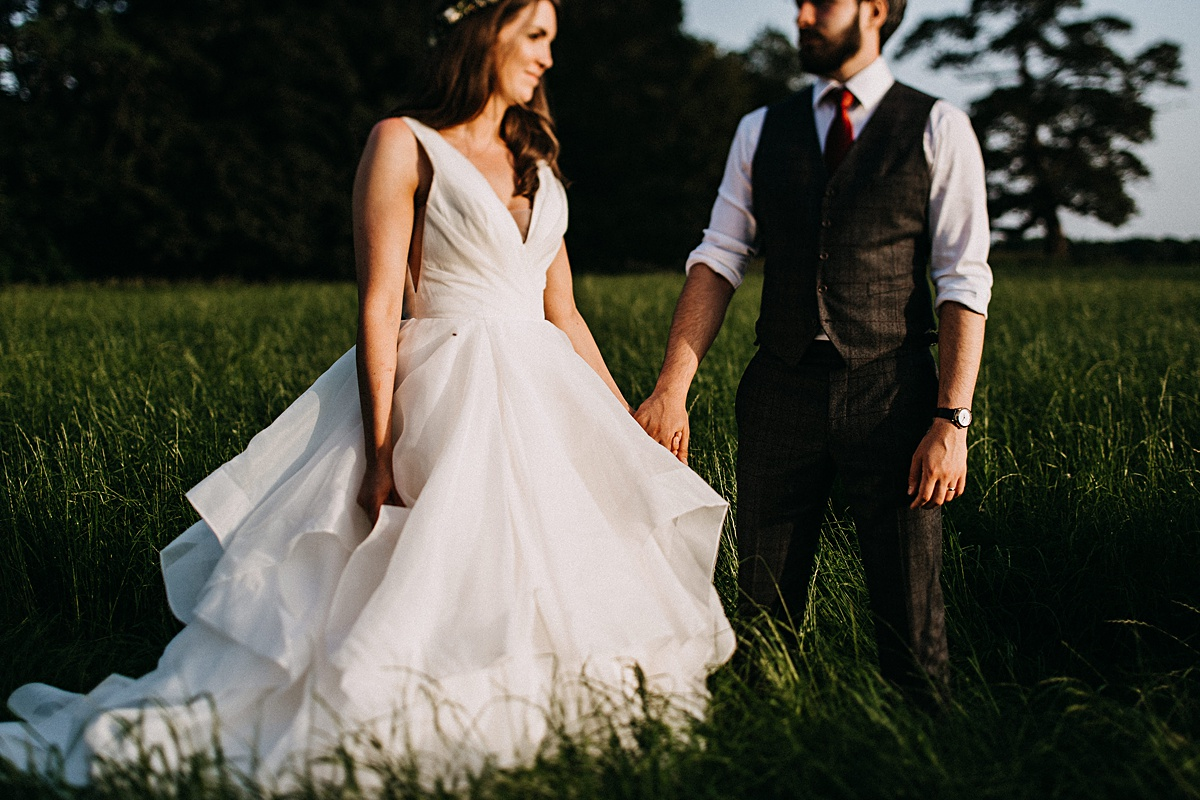 Golden hour wedding photographer