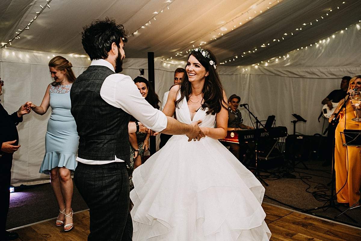 Epic dance floor wedding photography