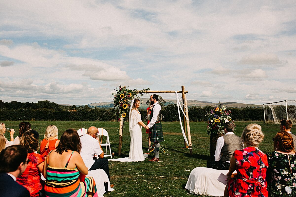 Outdoor humanist wedding Lancashire