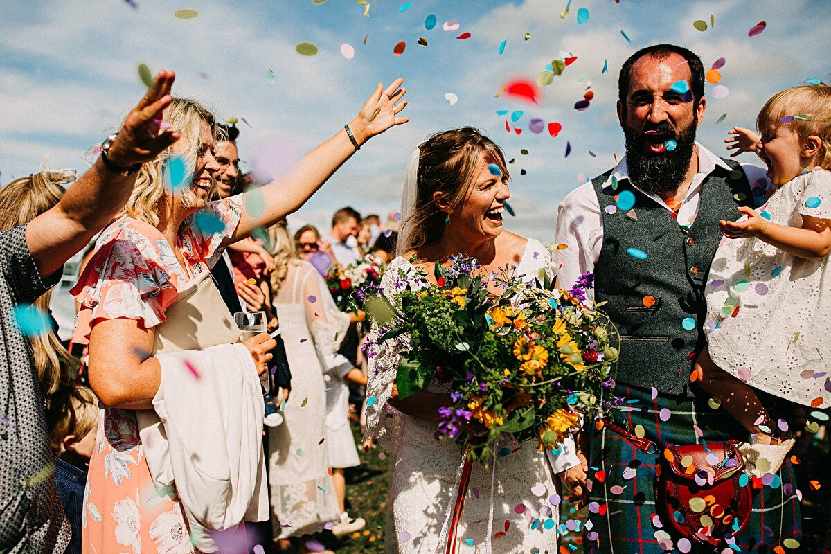 Outdoor festival wedding Lancashire