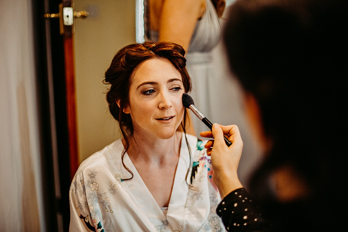 Jodie Smith wedding makeup