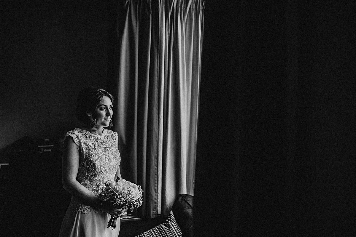 Beautiful natural wedding portrait of the bride