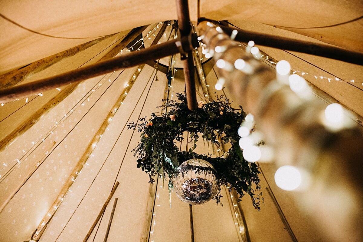 Tipi floral ceiling hanging