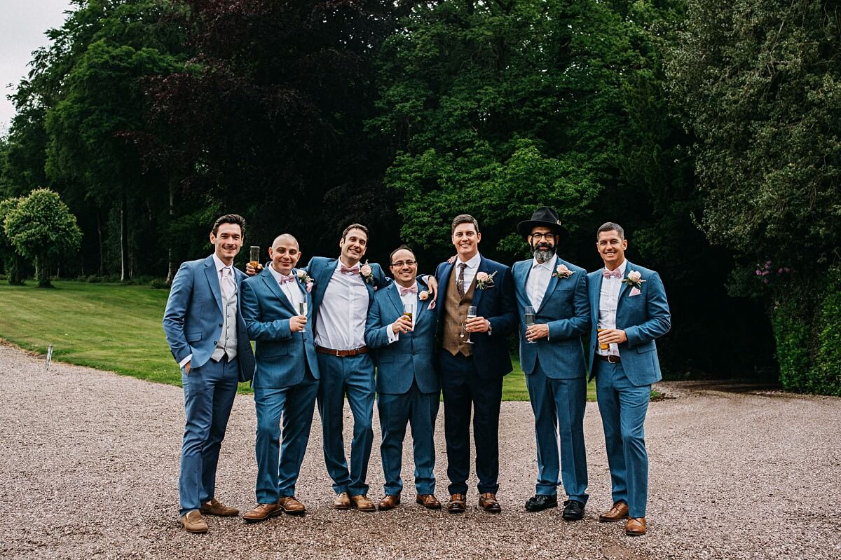 Ushers in blue suits