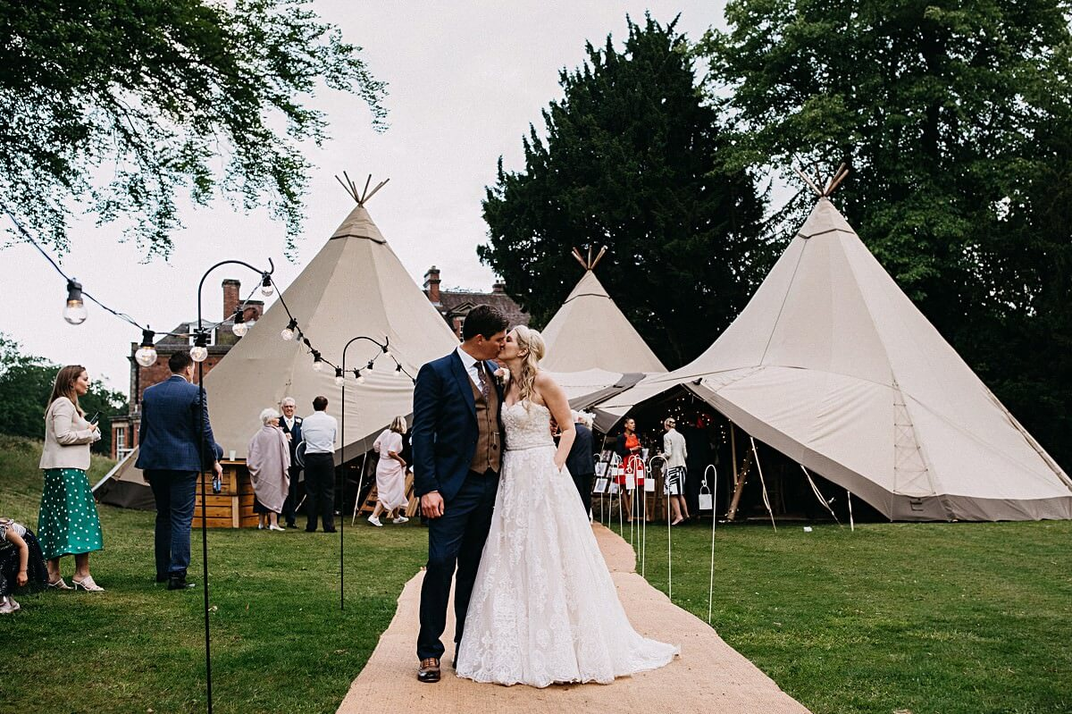 Whitmore Hall Tipi wedding