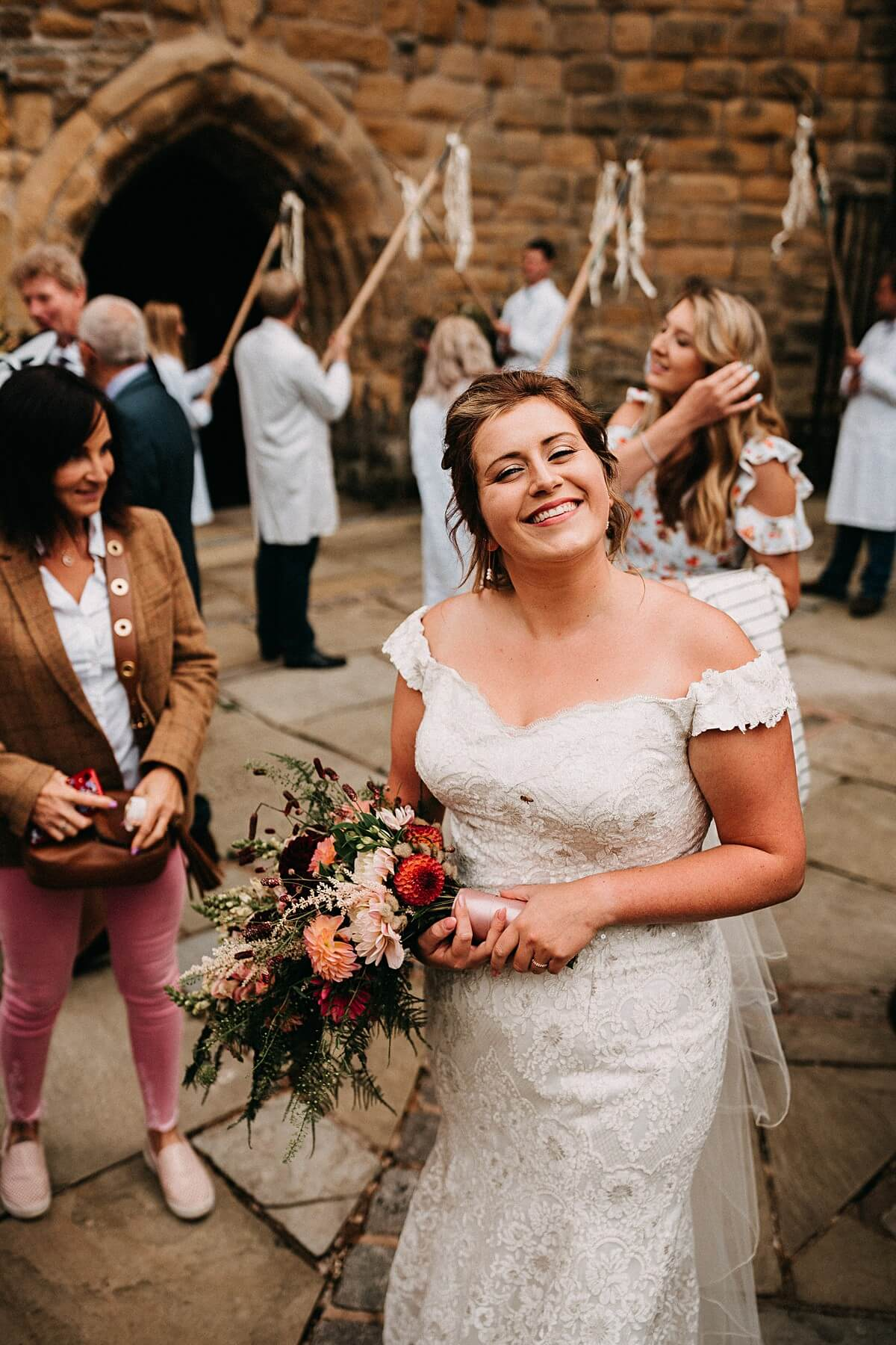 Natural portrait of the bride