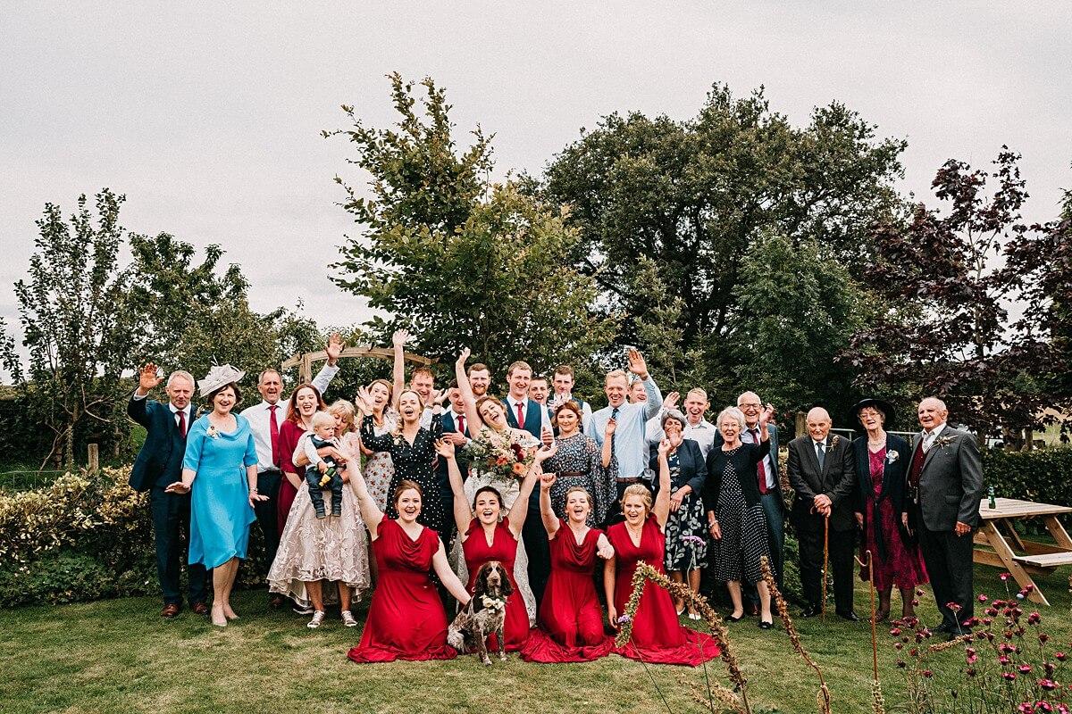 Intimate tipi garden wedding Lancashire