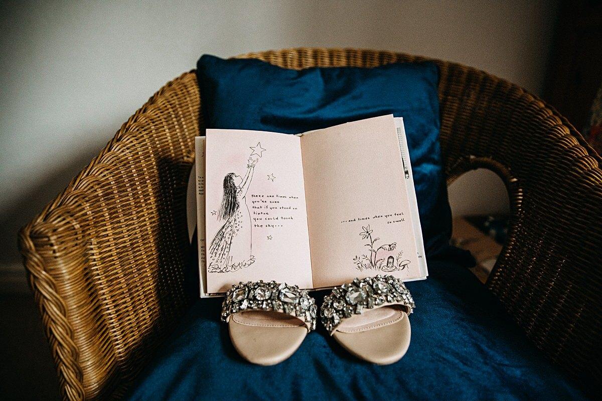 Beautiful embellished wedding sandals