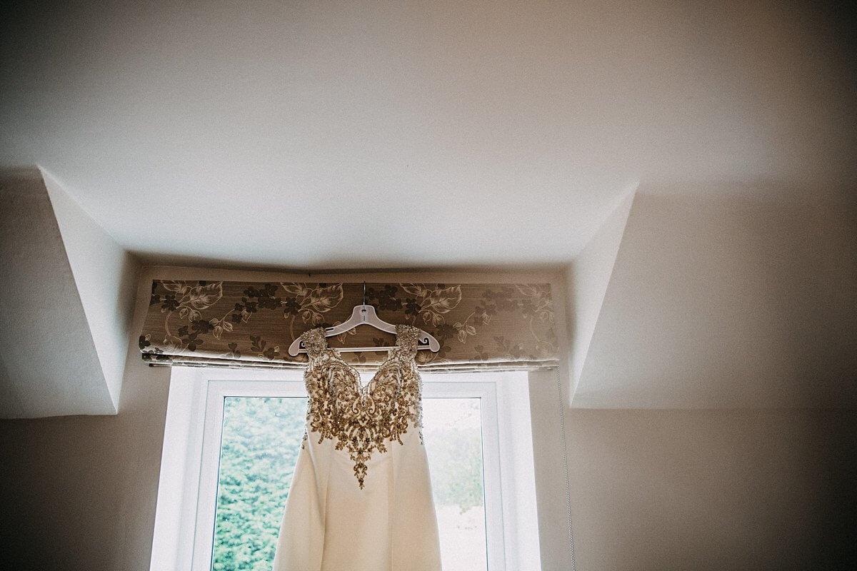 Satin embellished wedding dress