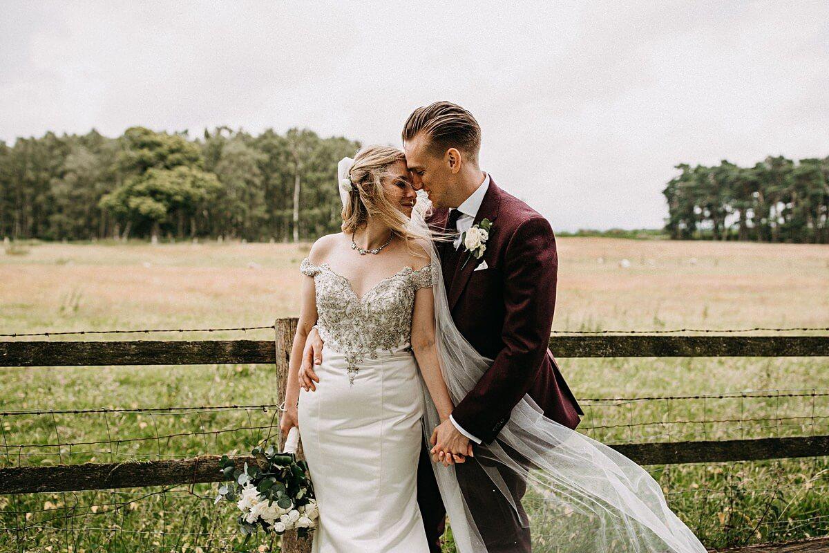 Natural wedding portraits Staffordshire