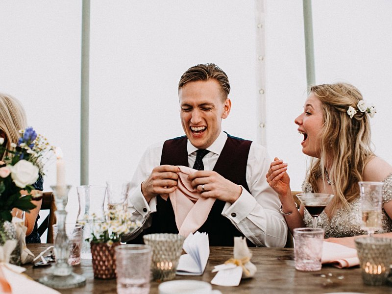 Outdoor marquee wedding Staffordshire